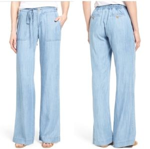 KUT from the Kloth Chambray wide leg pants